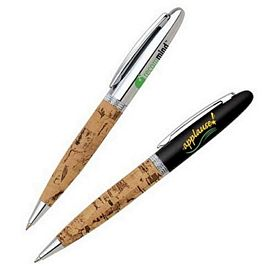 Promotional Cork Barrel Twist-Action Ballpoint Pen