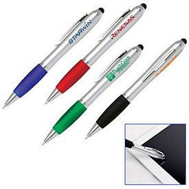 Promotional Soft-Touch Stylus Tip Plastic Ballpoint Pen