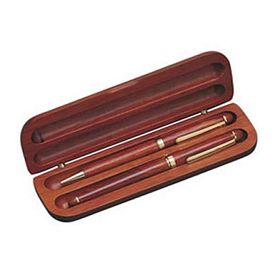 Customized Wooden Pen Case Double Slots