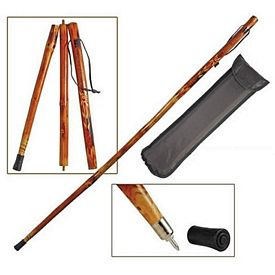 Promotional 55 3-Section Wooden Hiking Stick