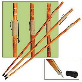 Promotional Rope-Wrapped Grip 55 Wooden Hiking Or Walking Stick