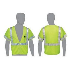Promotional Class 3 Compliant Green Mesh Safety Vest With Sleeves