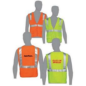 Custom Class 2 Compliant Solid Fabric Surveyors Vest