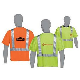 Promotional Class 2 Compliant Safety Orange Safety Green Reflective T-Shirt