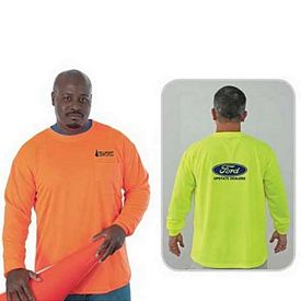 Promotional High Visibility Safety Long Sleeve T-Shirt