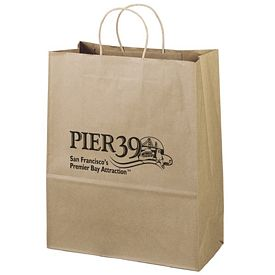 Promotional 13x15 Citation Recycled Brown Paper Tote Bag