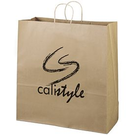 Promotional 18x18 Eco Shopper-Duke Recycled Brown Paper Tote Bag
