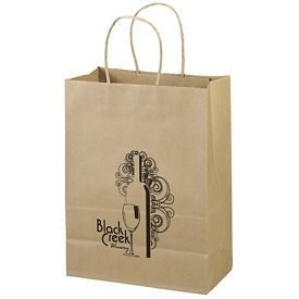 Promotional 10x13 Eco Shopper-Jenny Recycled Brown Paper Tote Bag