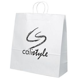 Promotional 18x18 Duke White Paper Shopper Tote Bag