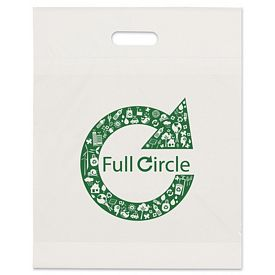 Promotional 15x19x3 Eco Recycled Die Cut Shopping Bag