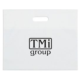 Promotional 16x13 White Die Cut Handle Shopping Bag