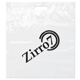 Promotional 18x20x4 White Die Cut Handle Shopping Bag