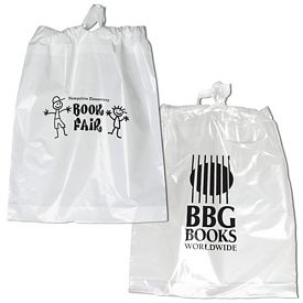 Customized 15x19 Poly Chord Plastic Drawstring Bag