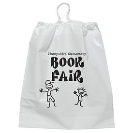 Customized 9.5x12 Cotton-Tie Plastic Drawstring Bag