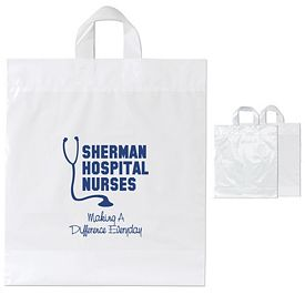 Customized Moose 16x18x6 Soft Loop Plastic Shopper Bag