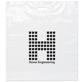 Promotional 22x24x5 White Die Cut Handle Shopping Bag