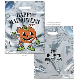 Promotional Silver Reflective Halloween Pumpkin Candy Bag