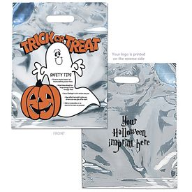 Customized Silver Reflective Halloween Ghost Candy Bag