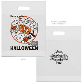 Customized Boo Ghost Halloween Plastic Candy Bag