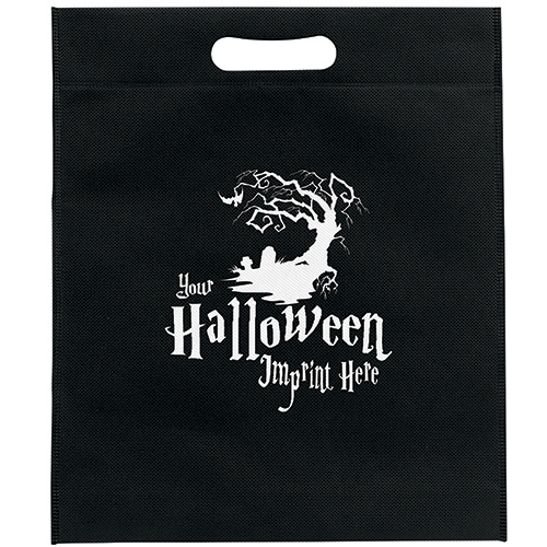 Promotional Non-Woven Orange Halloween Die Cut Bag