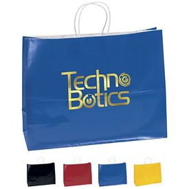 Promotional 16x12 Aubrie Color Gloss Paper Shopping Bag