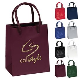 Customized 4.5x5.5 Jewel Gloss Eurotote Shopper Paper Bag