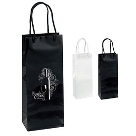 Customized 5x13 Chablis Gloss Eurotote Shopper Paper Bag