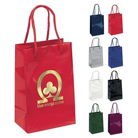 Customized 5x8 Gem Gloss Eurotote Shopper Paper Bag