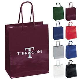 Promotional 7x9 Crystal Gloss Eurotote Shopper Paper Bag