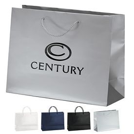 Customized 13x10 London Matte Eurotote Shopper Paper Bag