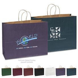 Promotional 16x12 Judy Matte Paper Shopper Tote Bag