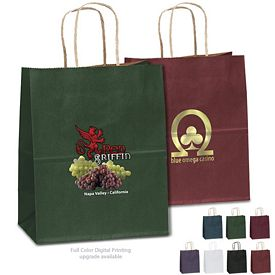 Customized 7x9 Munchkin Matte Paper Shopper Tote Bag
