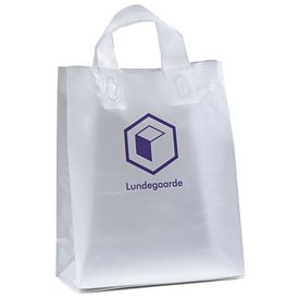 Promotional Sparkle 10x13x5 Frosted Shopper Gift Bag