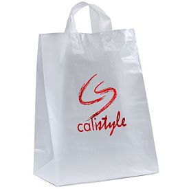 Promotional Mercury 13x17x6 Frosted Shopper Gift Bag