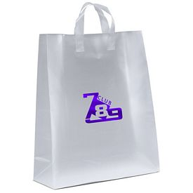 Promotional Jupiter 16x19x6 Frosted Shopper Gift Bag
