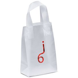 Customized Pluto 5x8x3 Frosted Shopper Gift Bag