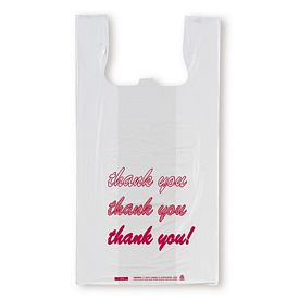 Promotional -inchThank You-inch Printed T-Shirt Shopping Bags
