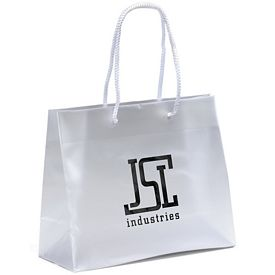 Customized Pisces 10x8x4 Frosted Euro Plastic Shopper Tote Bag