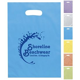 Promotional Aster 9x14 Frosted Brite Die Cut Shopping Bag