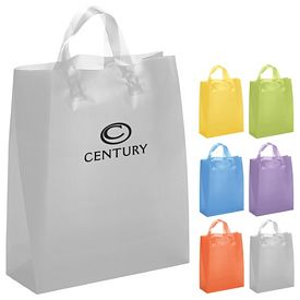 Promotional Iris 13x17x6 Frosted Brite Shopper Gift Bag