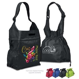 Customized Cinch-up Shoulder NonWoven Tote Bag