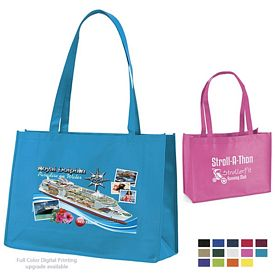 Promotional Franklin 16x12x6 NonWoven Tote Bag