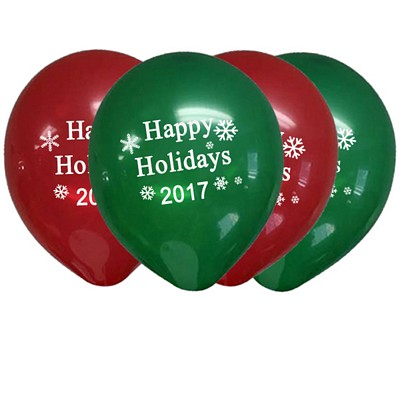 Promotional Christmas Happy Holidays Balloon Assortment