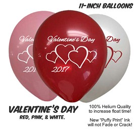 Customized ValentineS Day Balloons