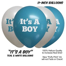 Custom ItS A Boy Balloon Assortment