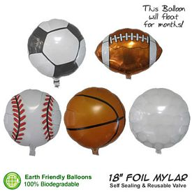 Promotional Sports Balloons Foil Mylar