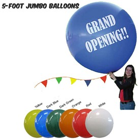 Promotional Balloons: 5 Ft Jumbo Latex Balloons