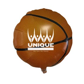 Customized 18 Inch Basketball Mylar Balloons