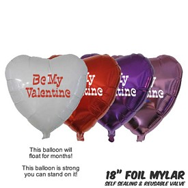 Promotional 18 Inch Heart Mylar Balloons
