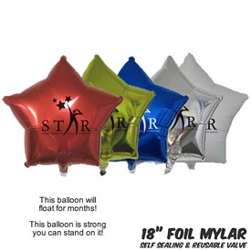 Promotional 18 Inch Star Mylar Balloons